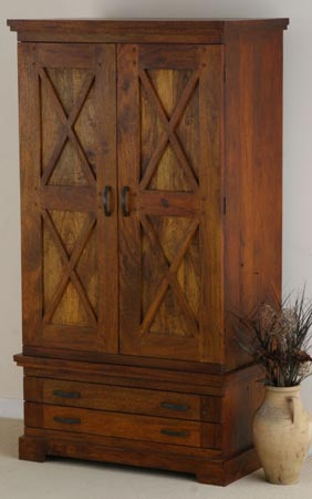 wooden wardrobe manufacturer exporter wholesaler almirah cabinet indian sheesham wood furniture