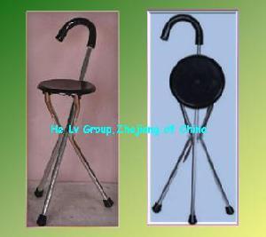 crutch foldable seat walking stick