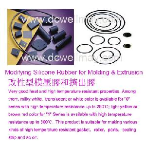 modifying silicone rubber molding extrusion