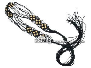 belt waist wood beads fashion women