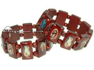 rosary catholic wood bracelet necklace finger