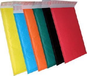 colored kraft bubble mailer envelope