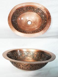 handcraft copper sink sinks kitchen bathroom