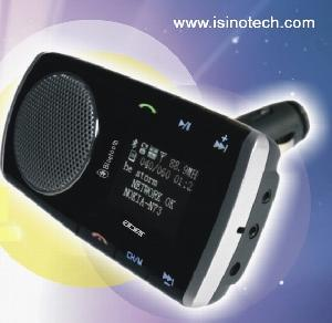 New Patented Product Bluetooth Handsfree Car Kit With Car Mp3 Player Function