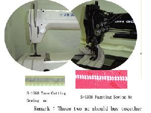 s 1668 1338 yarn cutting fagoting sewing machine