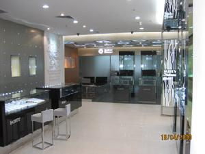 wooded glass showcases diamond jewellery store