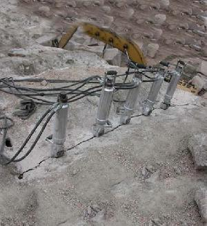 rock stone splitting hydraulic splitters