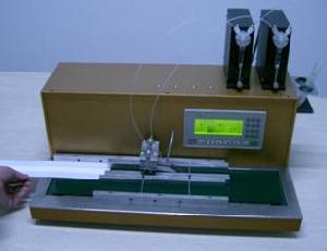 line gliding spraying gold conveyor dispenser hm8000