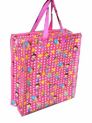 boy girl folded woven tote bag