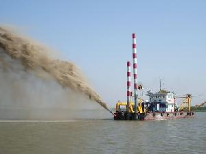 800m³ propelled cutter suction dredger 2 4million usd