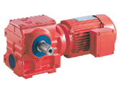hs helical worm geared reducer