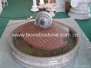 rolling granite ball fountain