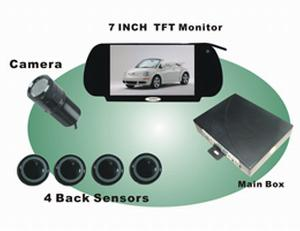 7 tft monitor video display car parking sensor system wireless camera srd 078b4