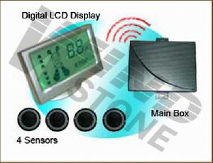 wireless lcd digital display reversing parking sensor system wrd058c4
