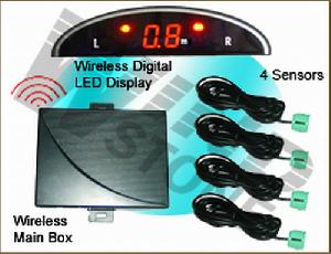 wireless mini led digital display car front rear parking sensor system wrd 018c4