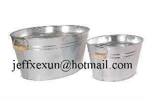 oval bucket galvanized tub