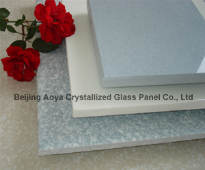 crystallized glass panel crystal stone