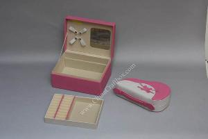 colorful leatheret jewelry box