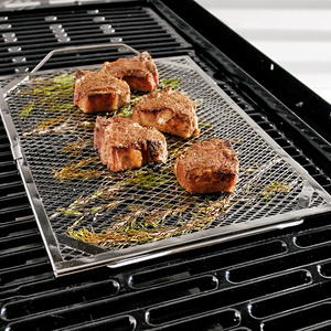 expanded steel metal mesh pan rack grid oven roaster gas barbecue grill