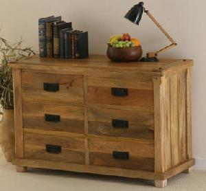 mango wood drawer chest indian furniture exporter