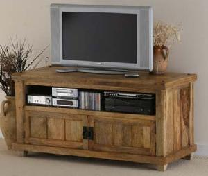 mango wood tv dvd cabinet video entertenment storage hall furniture