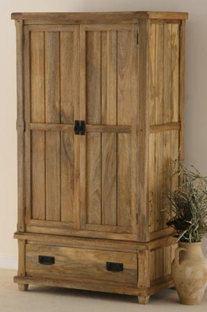 mango wood wardrobe almirah cabinet furniture manufacturer exporter