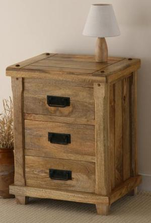 Solid Wood Bedside Table Cabinet Indian Furniture
