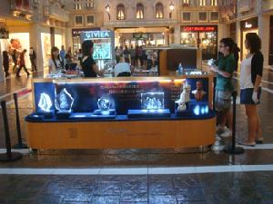 crystal showcases counter macao store
