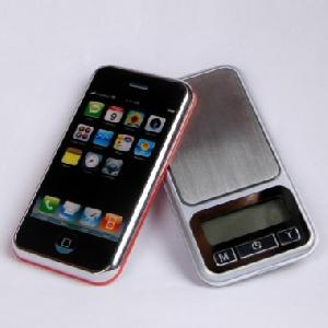 phone shaped electronic pocket scale 100g 200g 500g