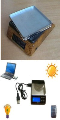 solar power electronic platform scale 2000g 1000g 200g 100g