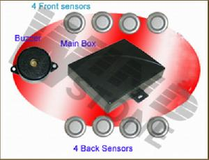 audio reversing sensors 4 recess warning buzzer rd 008c8