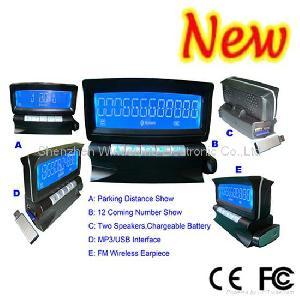 Car Bluetooth Handsfree Kit With 4 Rear In-bumper Sensors Bt-868c4