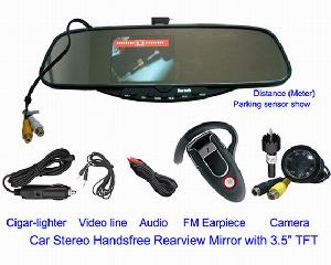 car reverse sensor system built 3 5 tft monitor rearview camera rd 728se