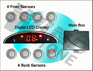 mini led display car reversing sensor systems buzzer digital rd 018c8