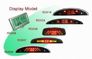 offerring digital display car front rear bumper sensor systems parking sensors