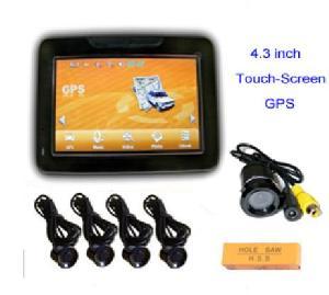 portable car gps navigation system 2 4 ghz wireless camera rear bumper sensors
