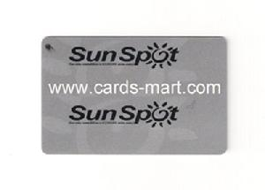 print level metallic plastic cards