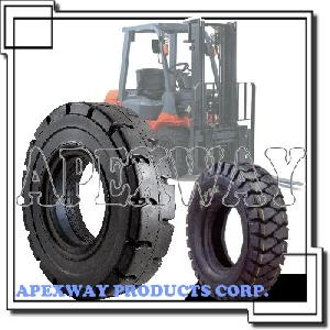 forklift tire wheel assembly