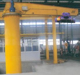 jib crane column swing lever