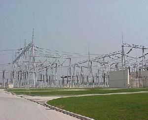power substation steel framework