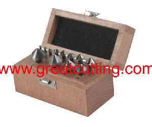 12 countersinks wood box