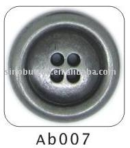 ab007four holes alloy button