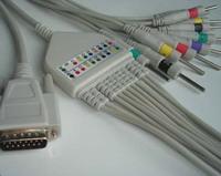 nihon kohden 9010 9020 9130 electrocardiograph ecg cable 10 leadwires