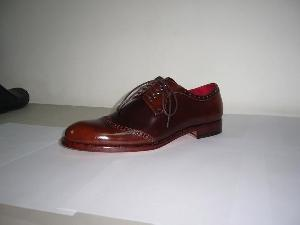 hand goodyear welted leather shoes