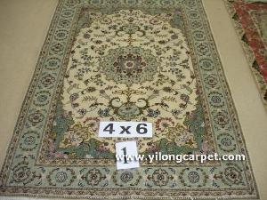 wool silk mixed rugs