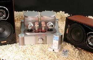 handmade hi fi vacuum tube speaker system