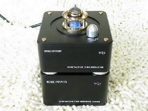 handmade vacuum tube speaker system mini hi fi