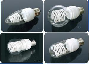 lámpara fluorescente de cátodo frío ccfl vela forma bulbo y globo luz 5w 8w 10watt