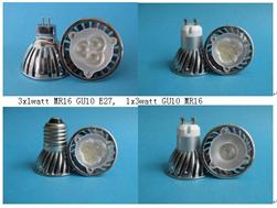 mr16 gu10 3x1w power led