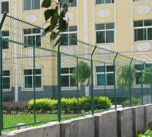 green coated security fences welded wire fence panels